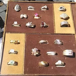 21 Sterling Silver Rings Wholesale Retail lot #3
